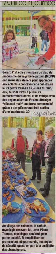 Le Dauphiné du 12 octobre 2015